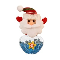 1pc cute christmas candy jar xmas decoration bubble candy storage box transparent plastic candy can bottle holder box