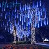 HoneyFly 8 tuby Outdoor Meteor Shower girlanda żarówkowa LED Lights 30/50cm wodoodporna na choinkę świąteczna dekoracja weselna