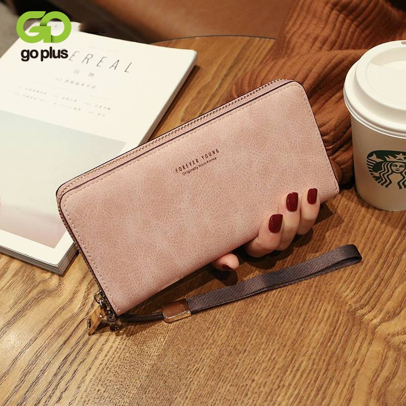 GOPLUS 2021 Women's wallet card holder Passport cover hand bag multifunctional card bag mobile phone bag coin purse female