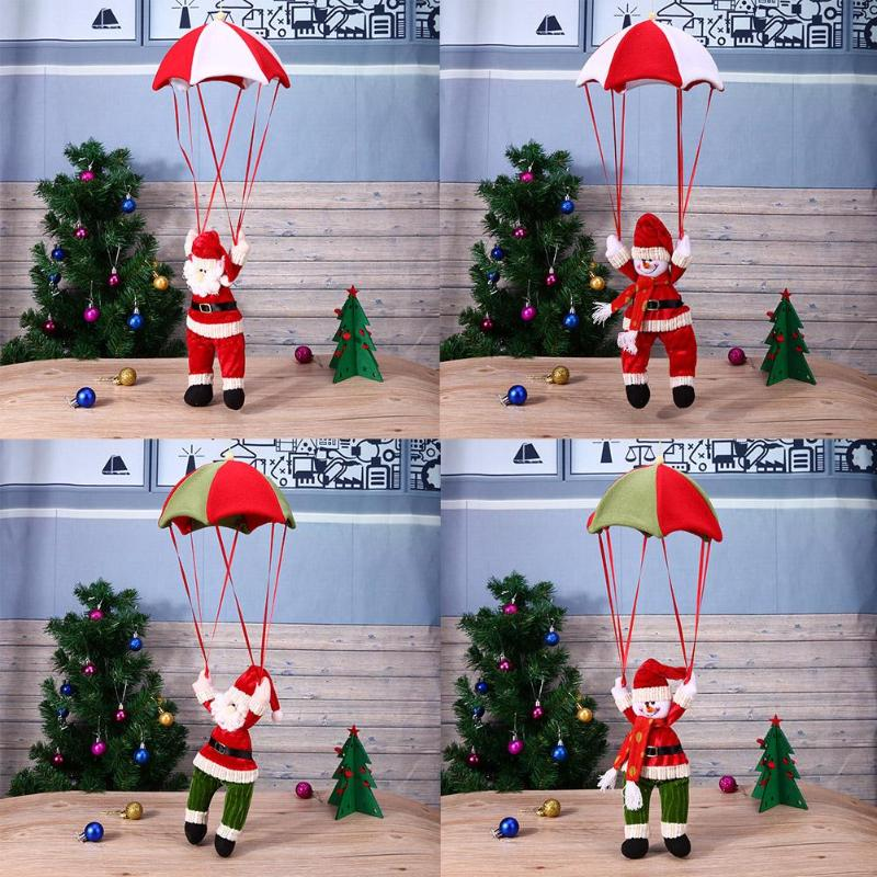 Christmas Doll Santa Claus Snowman Parachute Pendant Xmas Navidad Tree Hanging Ornaments Christmas Decorations Supplies недорого