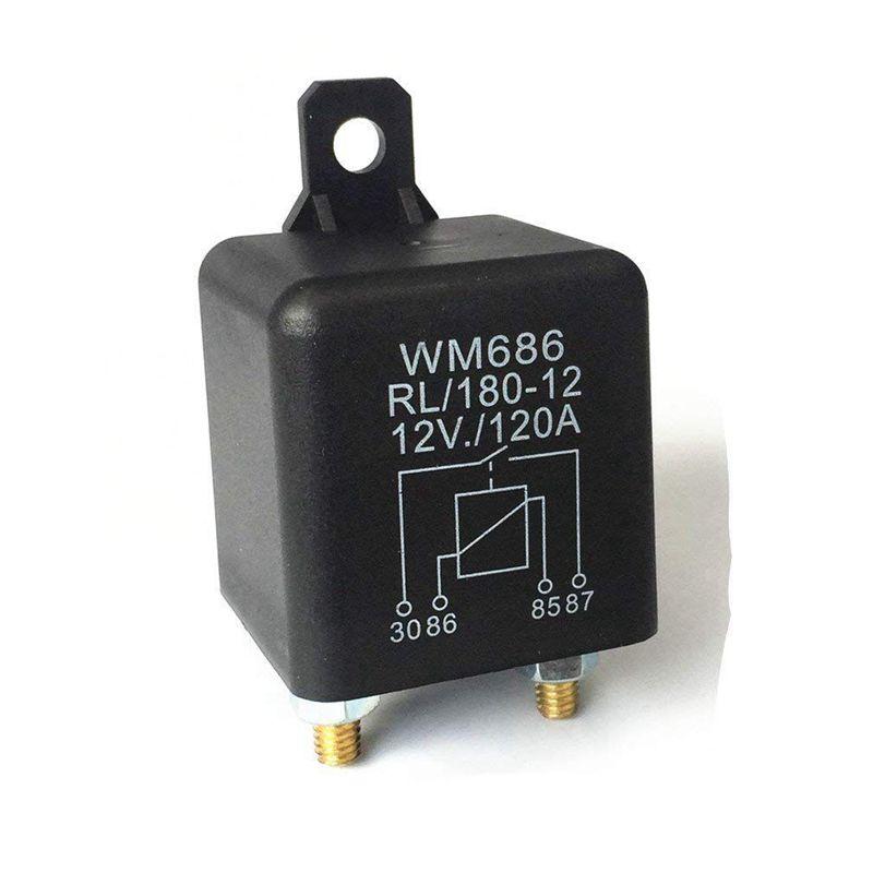 Carga máxima de isolamento da bateria do relé 12 v/120a da c.c. 12 v para o carro dos caminhões do carro (12 v/120a) cnim quente