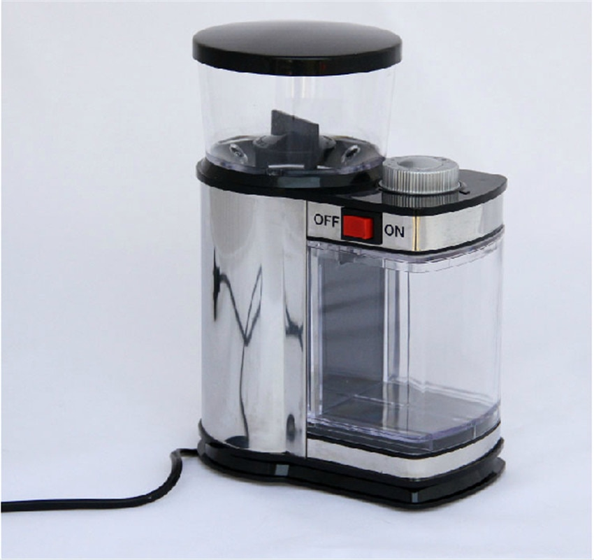 hand coffee beans grinder flour mill retro ground coffee beans manual coffee machine Stainless Steel 9 Gears Electric Coffee Grinder Cereals Herbs Nuts Beans Spices Grinding Machine Coffee Bean Mill 220V