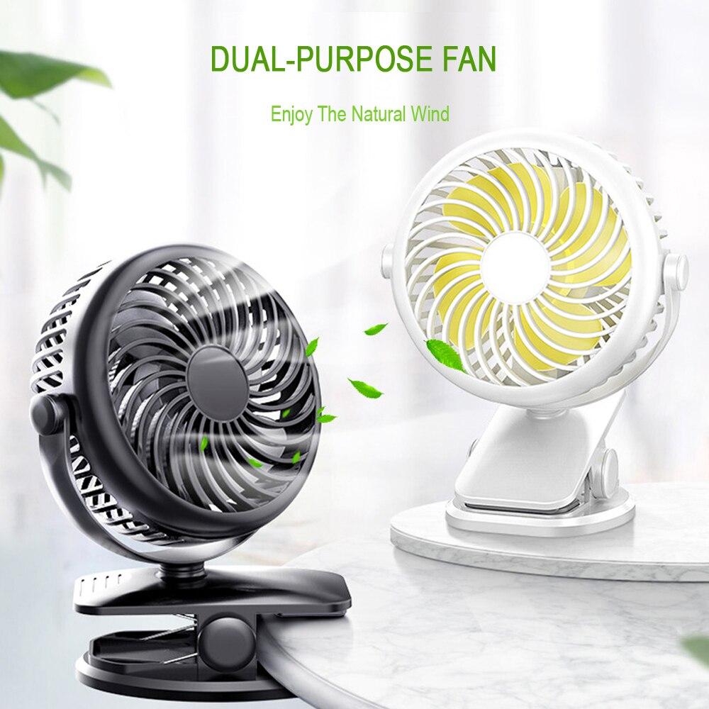Mini ventiladores de refrigeración con Clip USB 2020, enfriador súper silencioso portátil de 4 velocidades para oficina, escritorio, ventilador frío, aparatos de viaje para el coche y el hogar