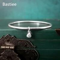 bastiee 999 silver bangles for women simple bracelet lotus root chinese hmong handmade jewelry hanfu accessories elegant bangle