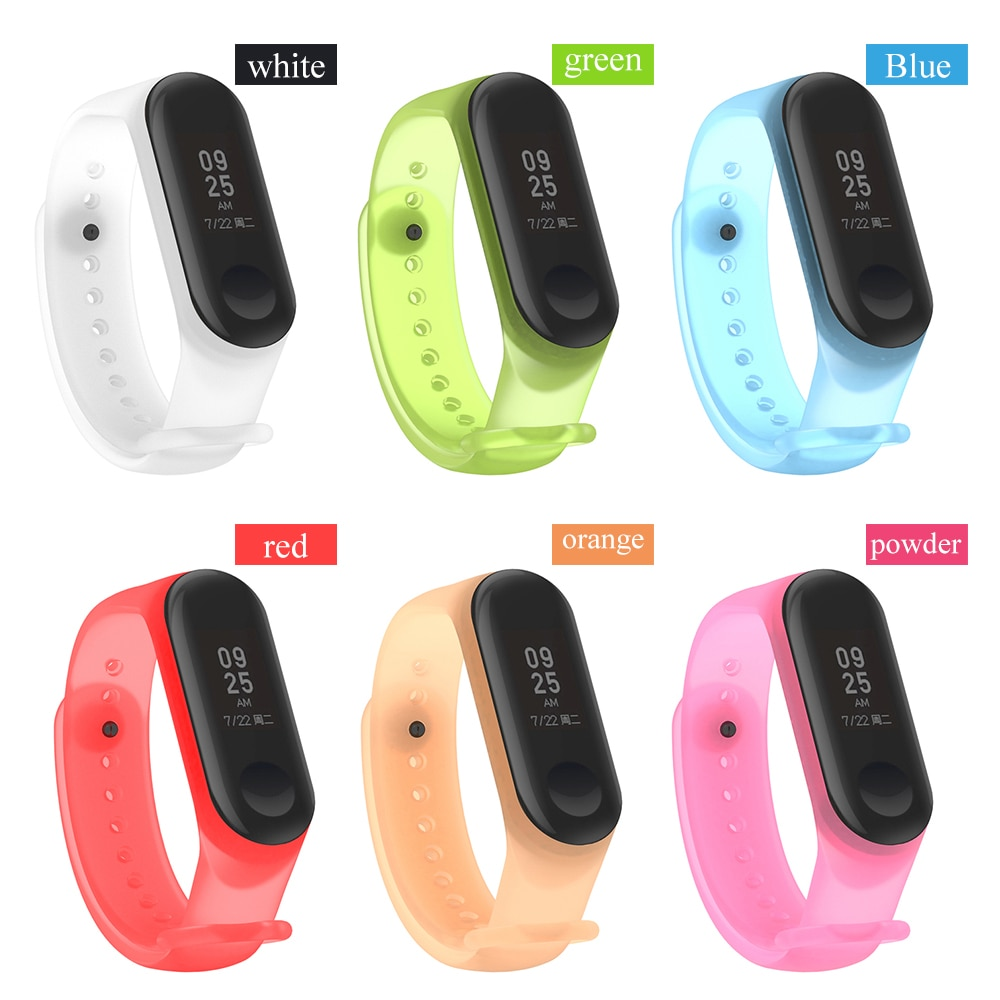 For xiaomi mi band 5 6 transparent strap new colorful miband 4 strap silicone mi band 4 3 belt replacement for xiaomi mi 4 band for xiaomi mi band 2 strap miband 2 strap bands colorful starry sky all stars splash soft rubber silicone watch straps bands new
