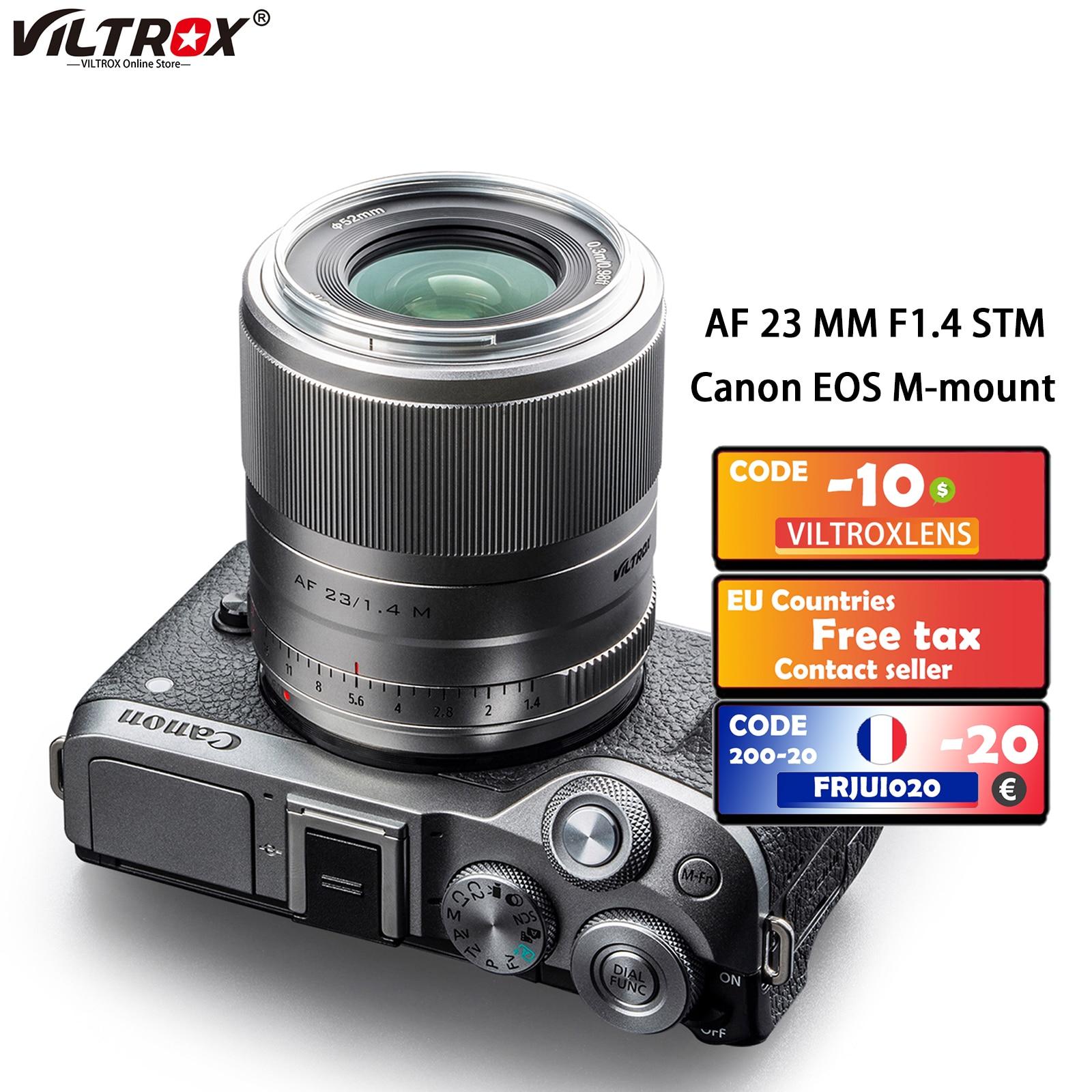 Viltrox 23 مللي متر f1.4 STM Prime عدسة EF-M جبل السيارات التركيز APS-C كاميرا عدسات لكاميرات كانون EOS M كاميرات M3 M5 M6 مارك II M50 M100 M200