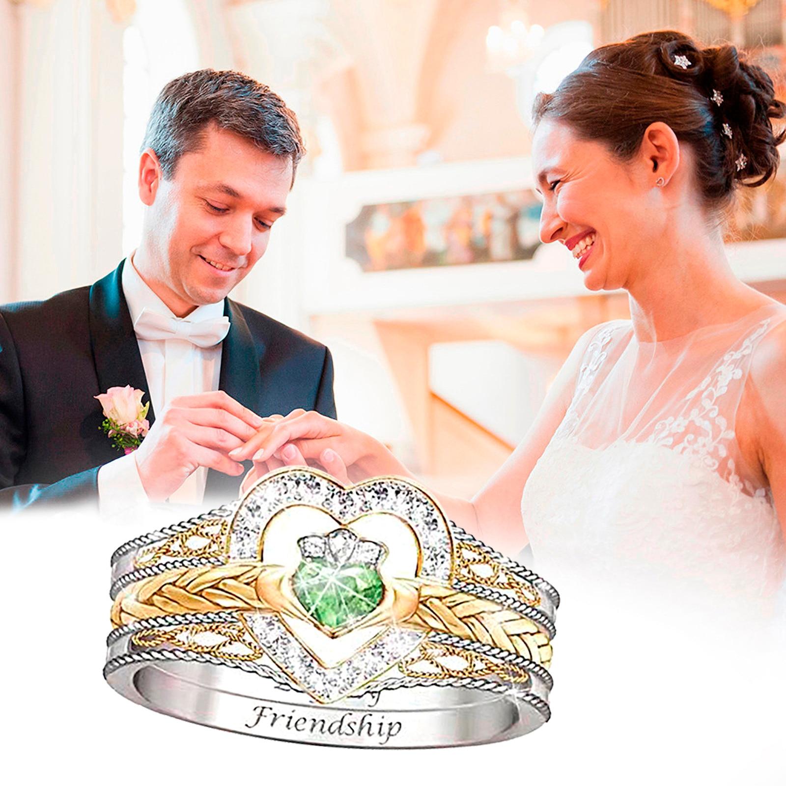 Anillos de diamante de moda para mujer, anillos de compromiso de boda...