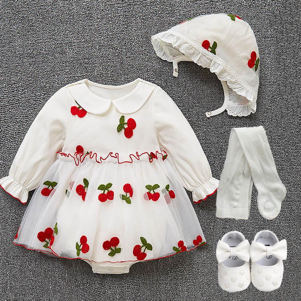 1 set High quality Baby infant kids girls princess dress christening baptism wedding birthday party gown photo shooting dress