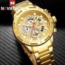 NAVIFORCE reloj deportivo para hombre, reloj de pulsera deportivo para hombre de negocios, reloj de pulsera de lujo de acero inoxidable militar, reloj masculino de cuarzo 9165
