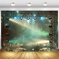 laeacco musical play stage concert spotlight fantasy polka dot light bokeh scenic photographic background photo backdrop photo