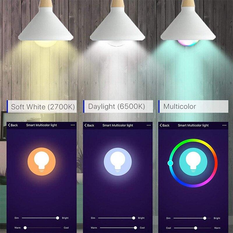 10W WiFi Smart Light Bulb E14 LED RGB Lamp Work with Alexa/Google Home 85-265V RGB+White Dimmable Timer Function Magic Bulb enlarge