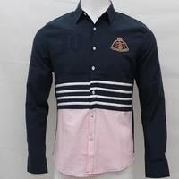 Chemise brodee pour homme  manches longues  en coton  pour rugby