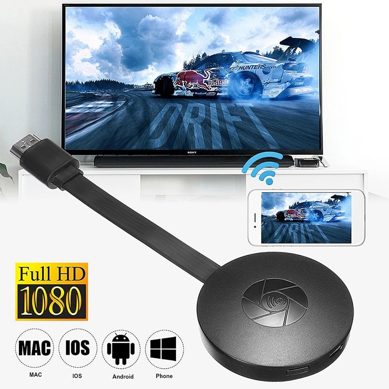 WiFi G2 PRO TV Stick 1080P Screen Display Receiver HDMI-Compatible Miracast Dongle Wireless Mirror S
