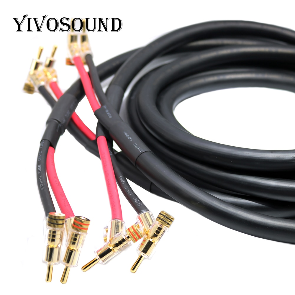 Yivosound-كابل مكبر صوت هاي فاي ، لمكبرات الصوت ، OCC Hi-end ، مقبس Y ، موز