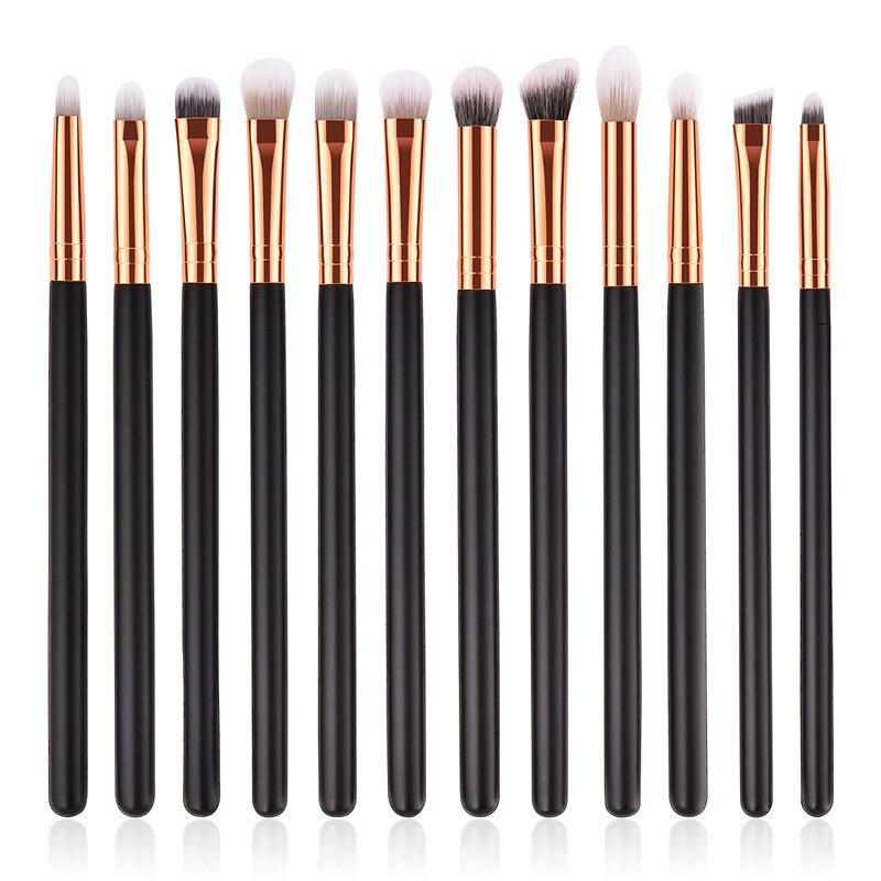 12Pcs Makeup Brushes Set Eye Shadow Blending Eyeliner Eyelash Eyebrow Make up Brushes Professional Eyeshadow Brush