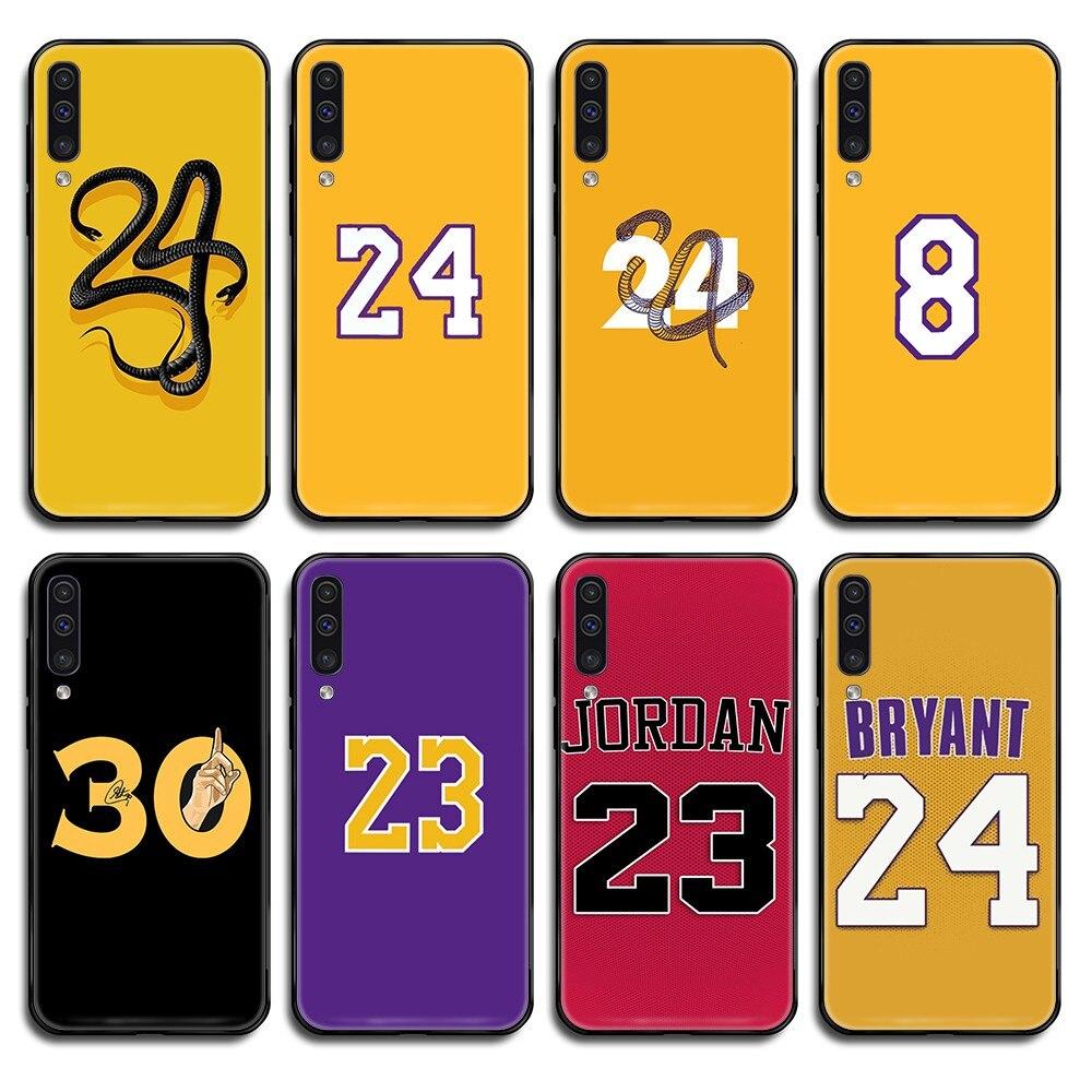 Kobe Jordan James Curry de baloncesto negro caso de teléfono para Samsung Galaxy nota C 3 4 5 6 7 8 10 20 40 50 70 E S Plus Pro 16 17 18