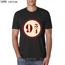 Young Boys Clothing Pulp Fiction Harry T Shirt Men Platform Nine And Three Quarters T-Shirt Potter-lover Tshirt Hombre Camisetas