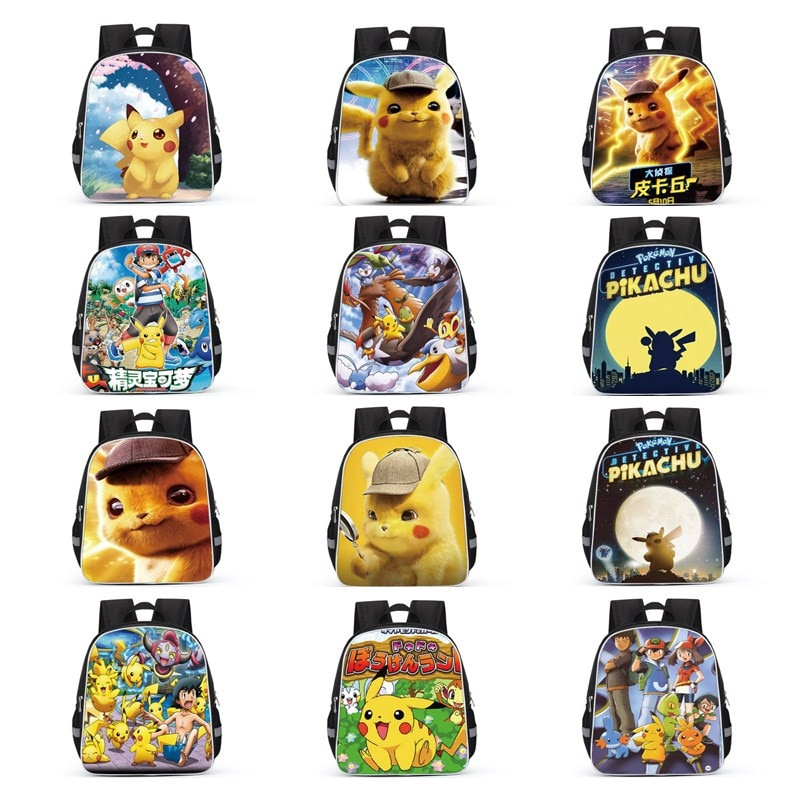 Dibujos Animados Pokémon figura de Anime Pikachu mochila escolar para niños Pokemon Escuela Diseño de bolsos mochila 3D juguete para regalo personalizado