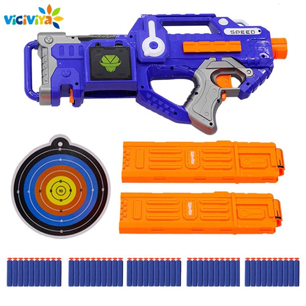 Electric Soft Bullet Gun Sniper Rifle Suit for Nerf bullets Toy Gun EVA Dart Blaster Toy Rifle Gun Kids Best Gift