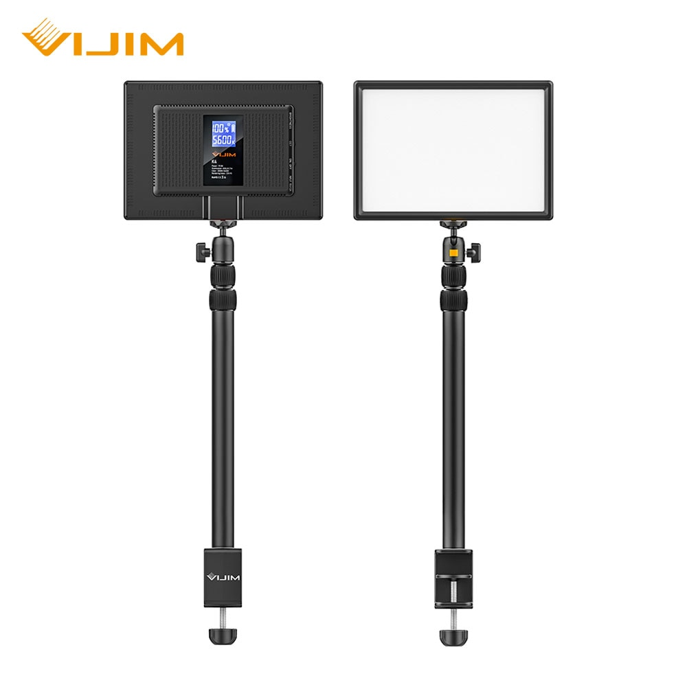 Viجيم K4 سطح المكتب لايف ستريم ضوء لوحة إضاءة LED مع ضوء موقف 3200k-5600k 8000mAh الولايات المتحدة الاتحاد الأوروبي التوصيل التصوير إضاءة الاستوديو