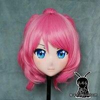rabbit 75 resin cross dress pretty girl head bid doll mask arknights japanese anime ptilopsis cosplay kigurumi mask cos