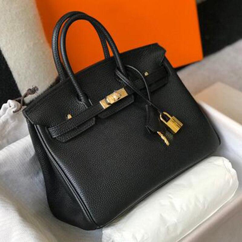 المرأة حقيبة حقيبة جلدية أصلية ل رسول حقائب كتف 2021 Crossbody سيدة حقائب الماركات الشهيرة جديد قفل مصمم فاخر