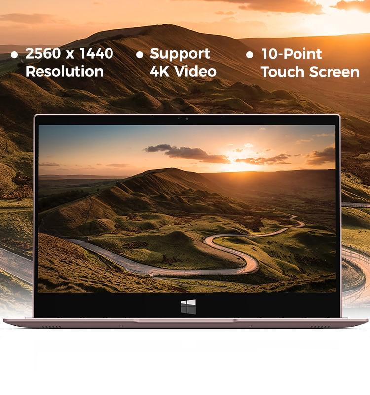 XIDU Laptop Tour Pro 8GB RAM 128GB ROM Window10 OS Intel x7 3867U Processor Notebook 2560x1440 IPS Touchscreen PC Office Tablet