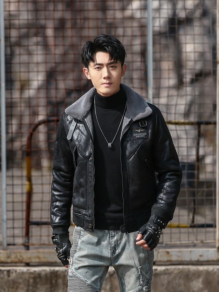Autumn Winter Men Thick Coat Casual Warm Leather Jacket