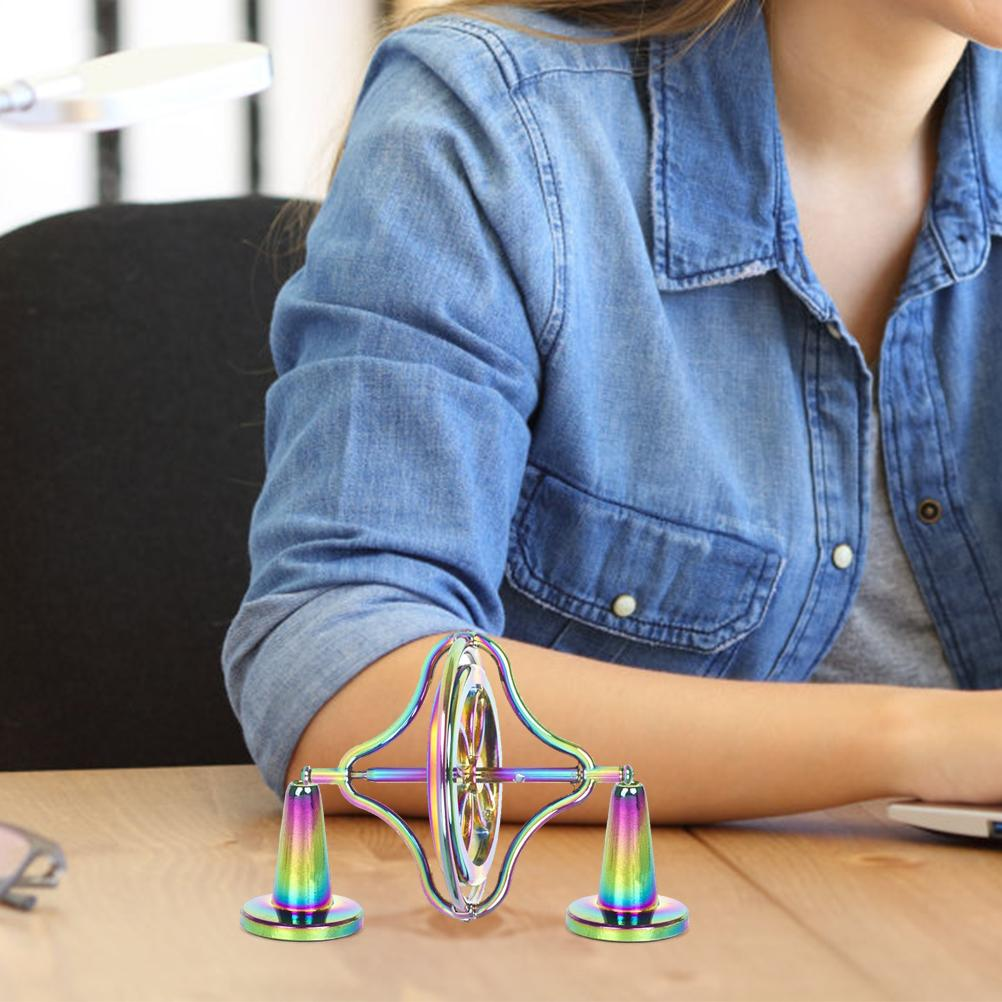 Alloy Anti-Gravity Spinning Top Decompression Toy Finger Toy Spinning Toy Gift for Kids Adults enlarge