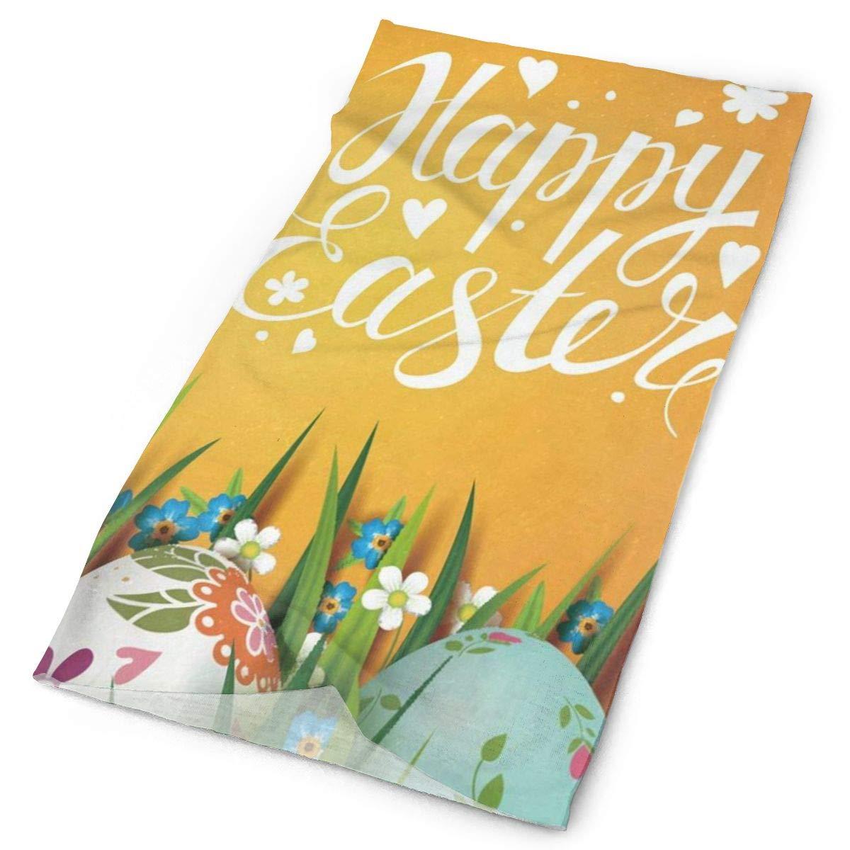 Diadema de huevos de Pascua felices flores florales mariposa, pañuelo para exterior, máscara para cuello, banda para el sudor, gorros deportivos