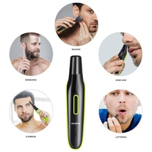 5 in 1 Portable Electric Beard Shaver Eyebrow Nasal Hair Removal Razor Machine Multifunction Nose Ea
