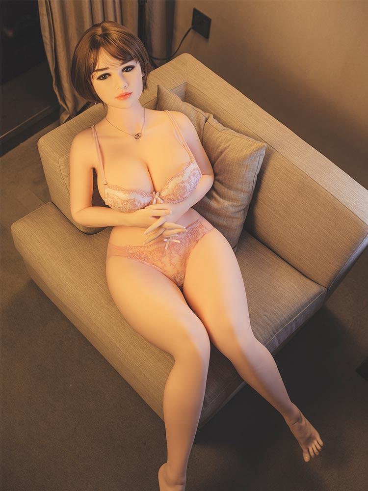 H6ef4e4cc7aec488c8f1b9a30e5aad0ef0 Hanidoll 162cm muñeca del sexo para los hombres realista Vagina coño pecho gordo trasero adultos juguetes sexuales para los hombres Real TPE muñeca de amor