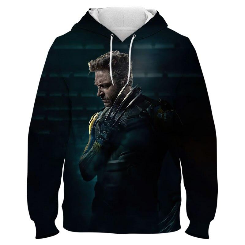 X-Men Wolverine Logan Spring Autumn Hoodie Men's And Women's Children's 3D Printing Creative Versatile Fashion Cool Sweatshirt