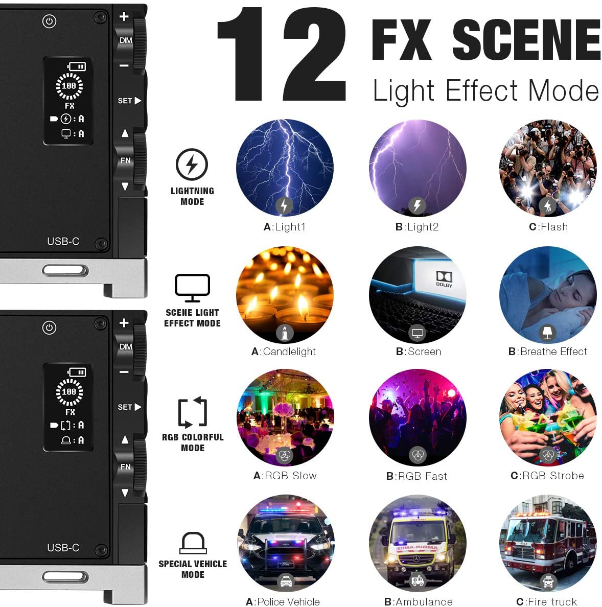 LED G1S RGB Lamp Rechargeable Led Camera Fill Light Video Lighting Panel Photography Professional Atmosphere Light enlarge