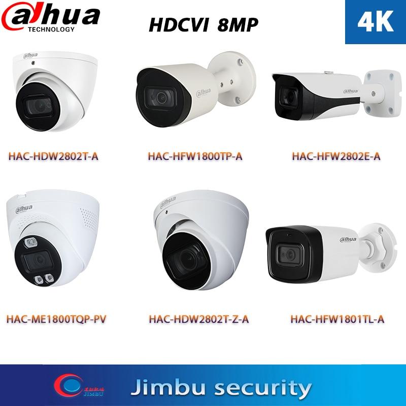 داهوا الأمن 4K 8MP HDCVI كاميرا HAC-HDW2802T-A HAC-HFW1800T-A HAC-HFW2802E-A HAC-ME1800TQ-PV HAC-HDW2802T-Z-A HD محوري