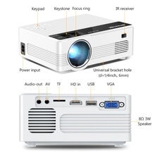 C520 HD 150inch Home Theater Portable LED Video Mini Projector(Optional Android 10 TV Box) for Phone