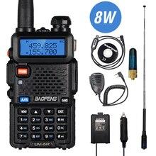 Real 8W Baofeng UV-5R Walkie Talkie Uv 5R Dual Band Walkie Fm Transceiver UV5R Amateur Ham Cb Radio Station jacht Zender