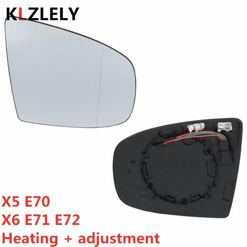 O para BMW X5 E70 X6 E71 E72 Retrovisor lateral espejo retrovisor lateral climatizado + ajuste 51167174981 51167174982