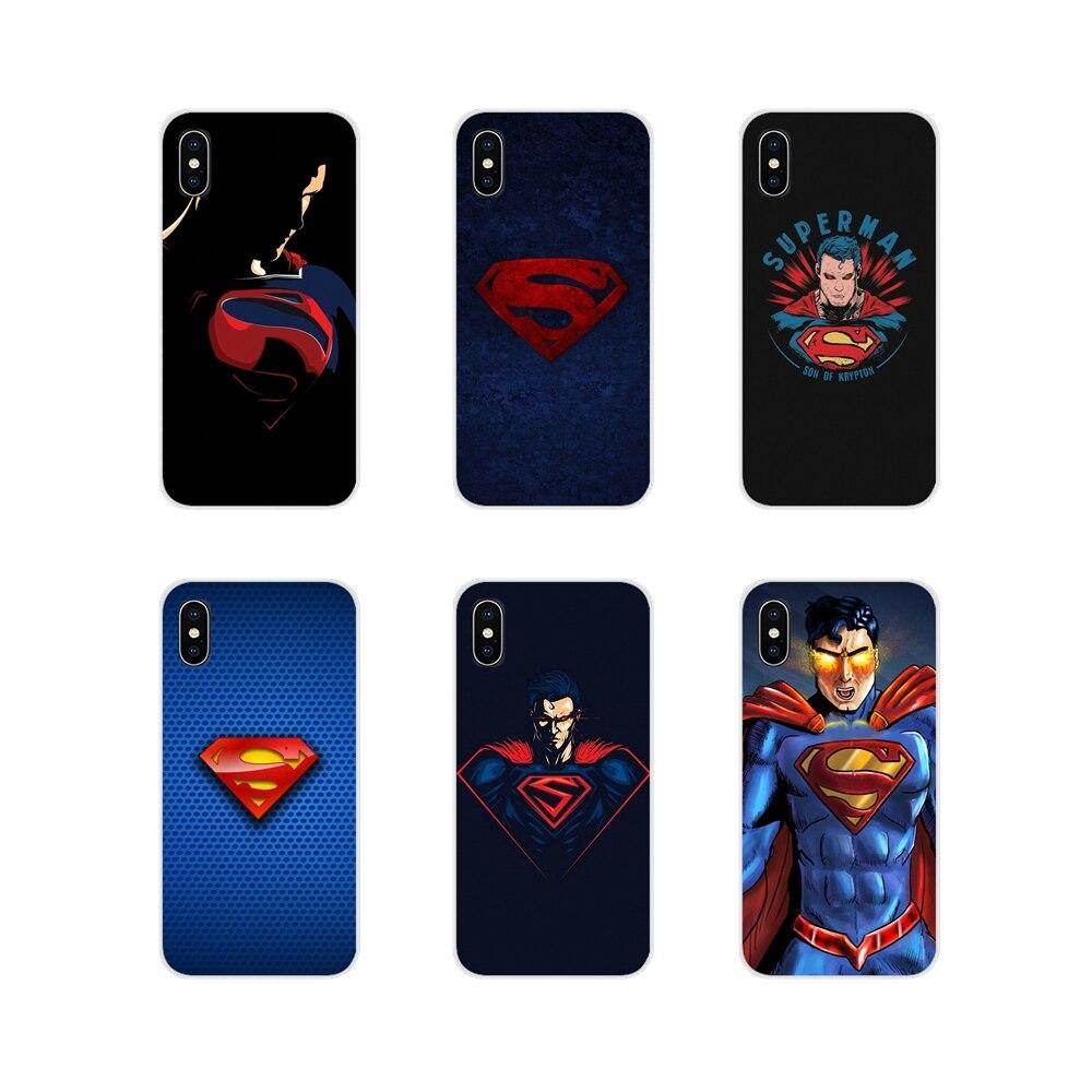 Accesorios cubiertas de los casos del teléfono MARVEL Superman para Samsung A10 A30 A40 A50 A60 A70 M30 Galaxy nota 2 3 4 5 8 9 10