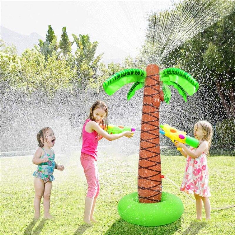Детское летнее Надувное поло LazyChild, водное поло с водяным носиком, для родителей и детей, для пляжа, для газона, спрей, имитация кокосового де...