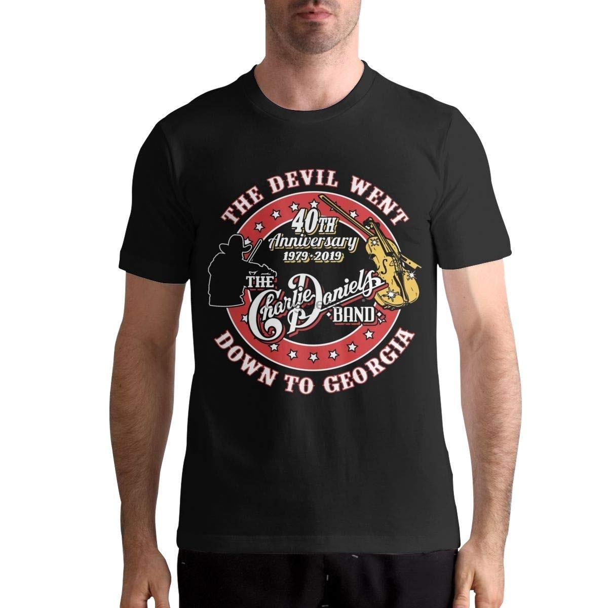 T-shirt à manches courtes pour hommes, en coton, à col rond, à la mode