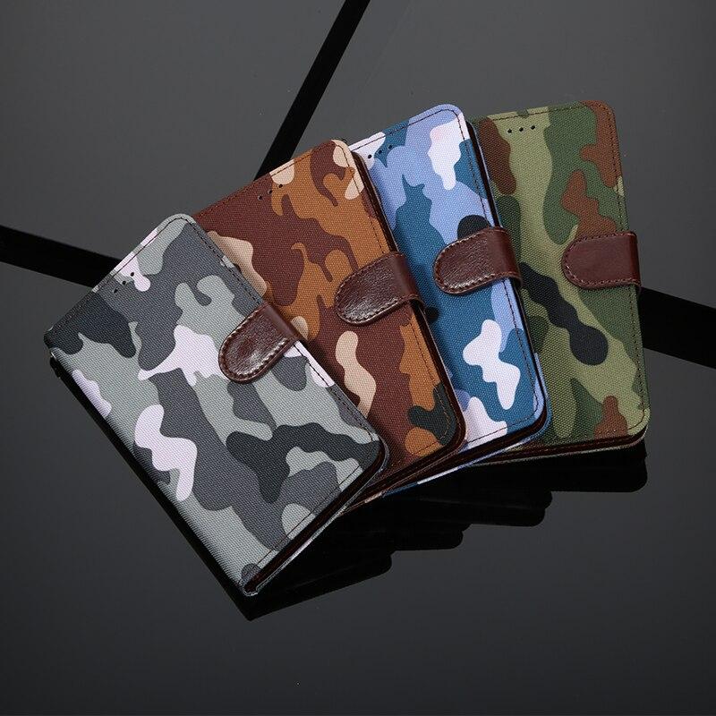 Camuflaje funda Flip de cuero para Alcatel 1 1C 1S 1X 2019 1V 2020 5033D 5003D 5009D 5024D 5008Y 5059D 5001D cubierta de la bolsa del teléfono