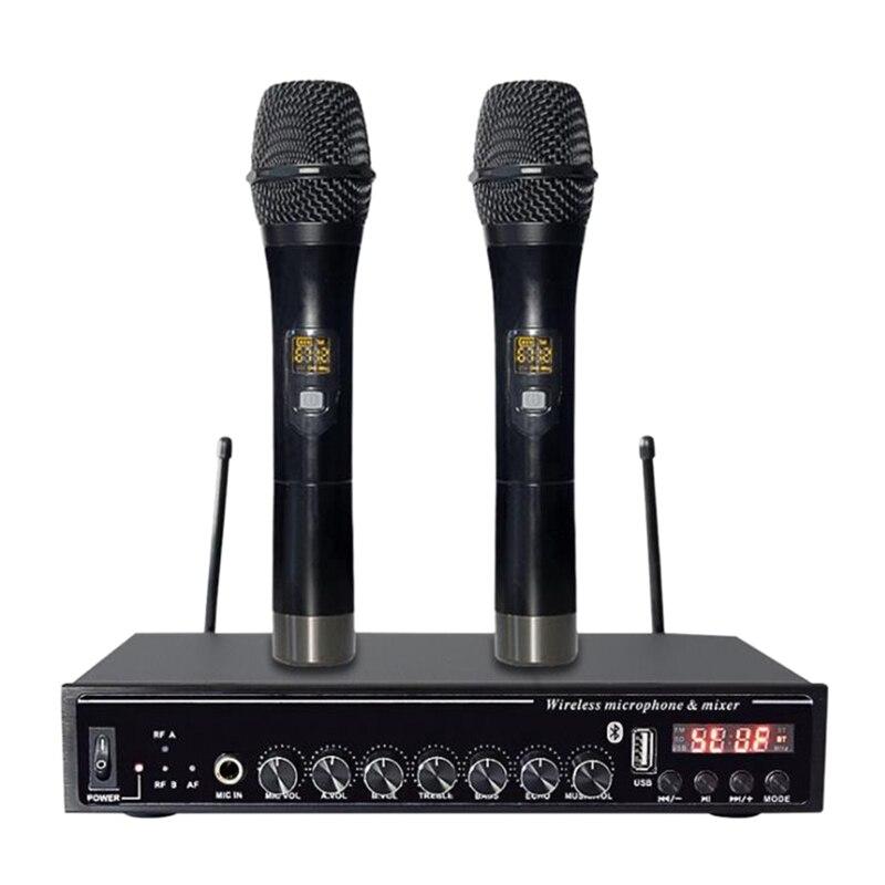 سماعة لاسلكية تعمل بالبلوتوث U قطعة ميكروفون واحد لمدة اثنين من ضبط صدى الأسرة KTV تلفزيون الكمبيوتر ميكروفون الكاريوكي