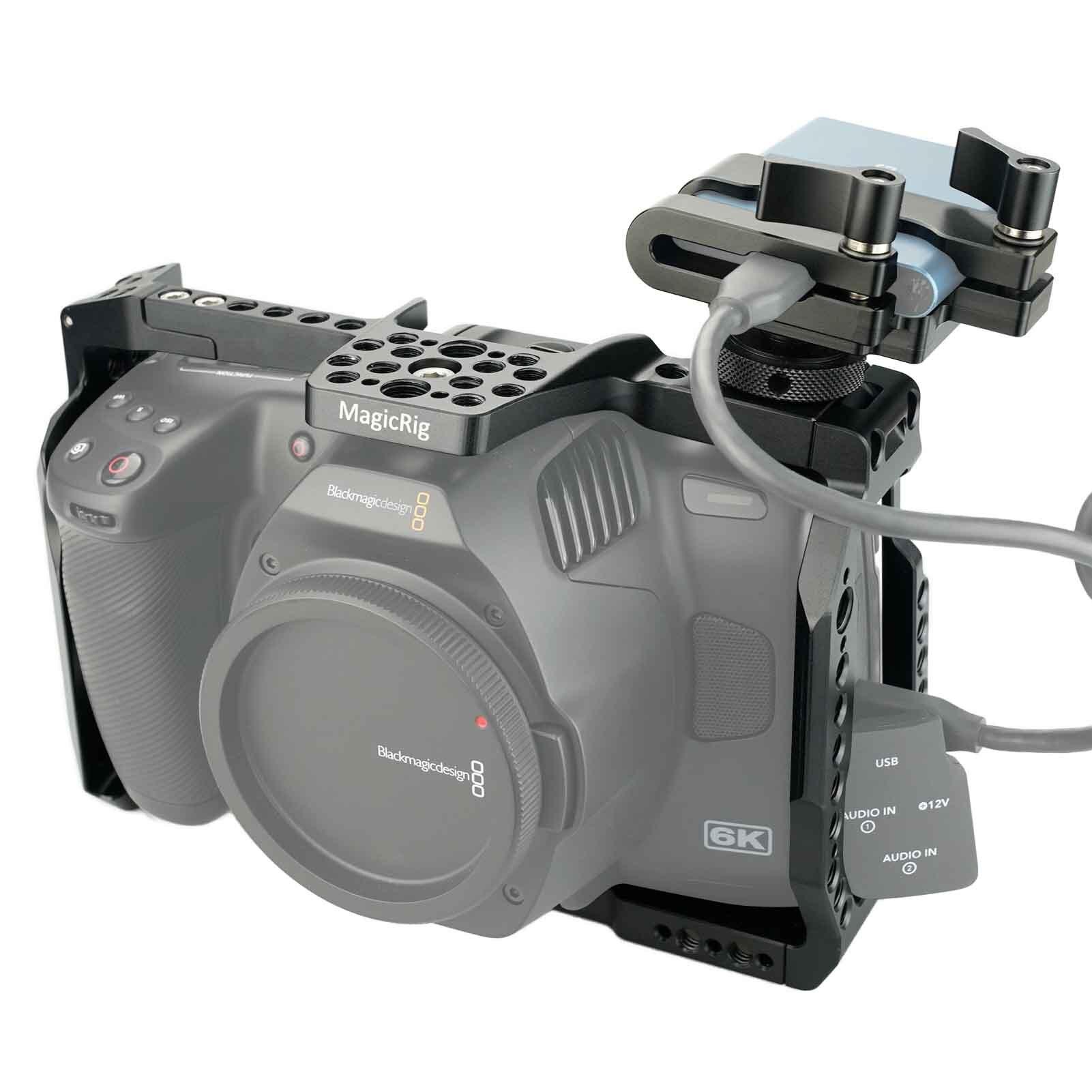 MAGICRIG BMPCC 6K Pro Cage With T5 SSD Mount for Blackmagic Design Pocket Cinema Camera 6K Pro enlarge