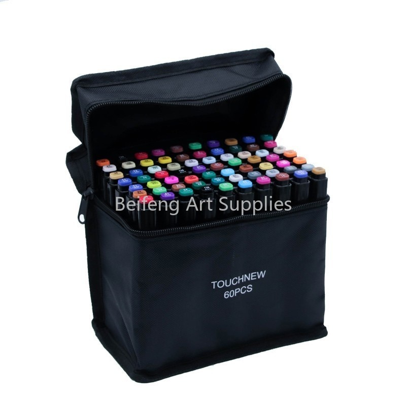TouchFIVE 30/40/60/80 Color Art Markers Set Dual Headed Artist Sketch Oily Alcohol based markers For Animation Manga