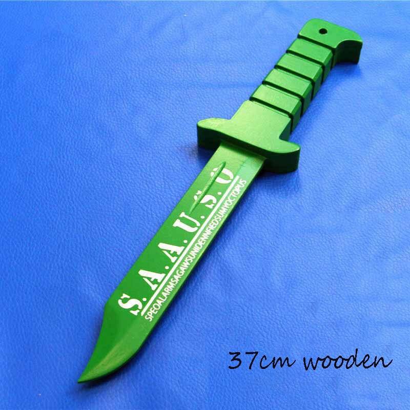 ملحقات الأداء من خشب البولي يوريثان ، سيف الساموراي/النينجا ، لعبة محاكاة كاتانا ، سلاح رورونوا زورو ، ثلاثة سكاكين ، 77 سنتيمتر ، تأثيري 1:1