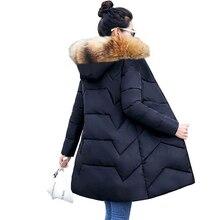 6XL 7XL حجم كبير النساء معطف الشتاء كبير الفراء أسفل سترات الشتاء معطف مقنع الإناث ضئيلة الشتاء سترة للنساء الدافئة طويلة سترات