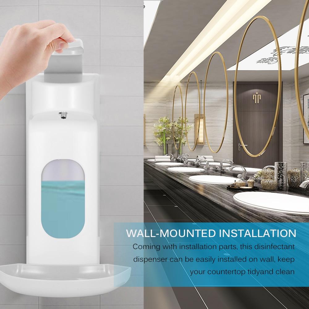 1000ML Seife Spender Hand Sanitizer Dispenser Wand Montiert Sensor Alkohol Desinfektion Spray Dispenser Für Schule Hotel Bathroo