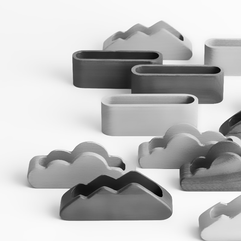 Creative business card case silicone mold desktop cement card clip box  card collection box silicone mold paper  storage mold
