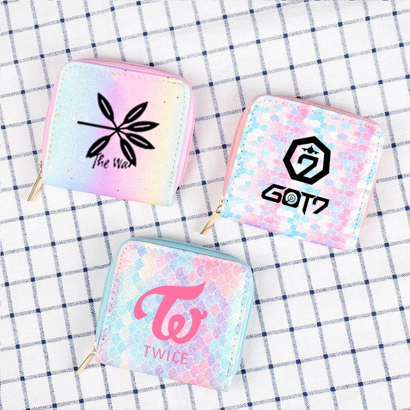 Quiero uno dos veces Got7 EXO dos gradiente creativo monedero tarjeta bolsa de lujo mantener hilado superior MOMO XIUMIN SUHO BAEKHYUN